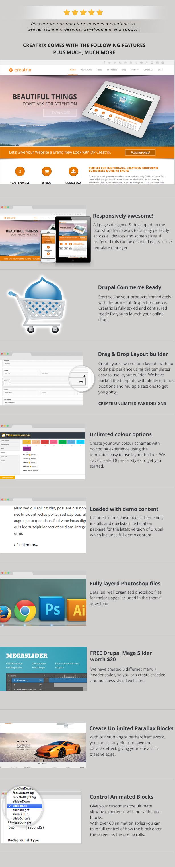 Creatrix - Drupal Commerce, Multipurpose Theme