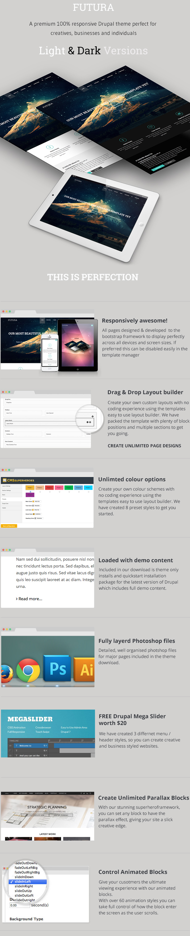 Futura, MultiPurpose Creative Drupal Theme - 1