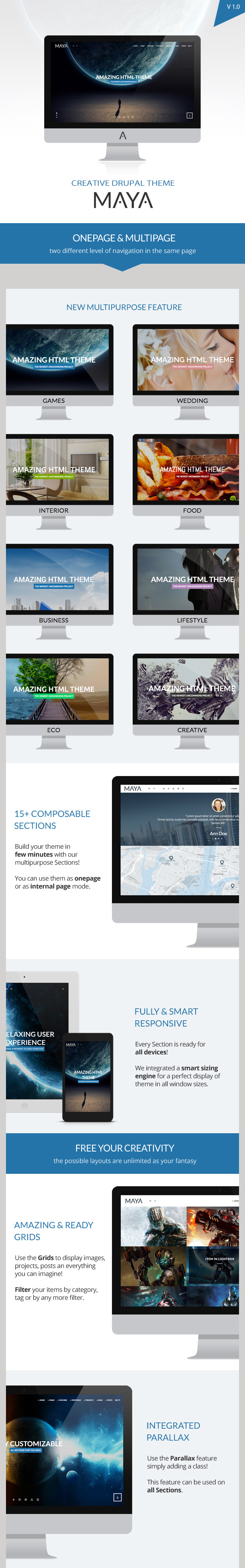 Maya - Smart & Powerful Drupal Theme