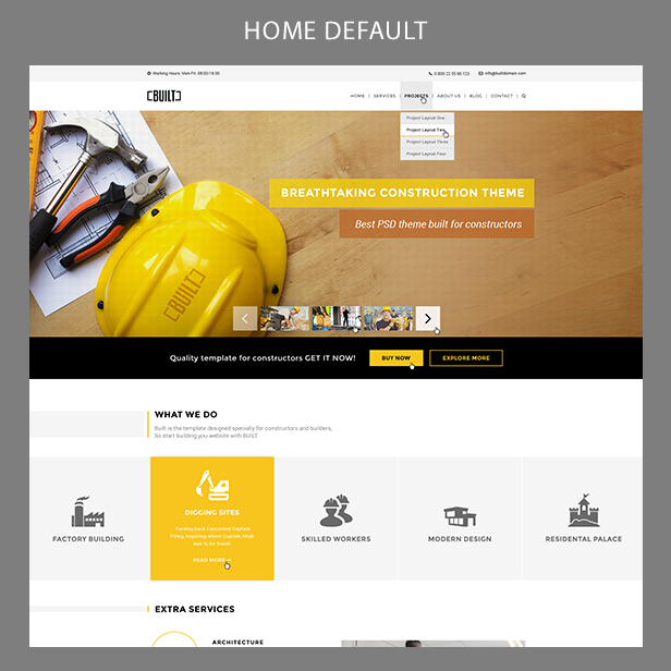 WordPress theme BUILT | Construction Business Wordpress Theme (Business)