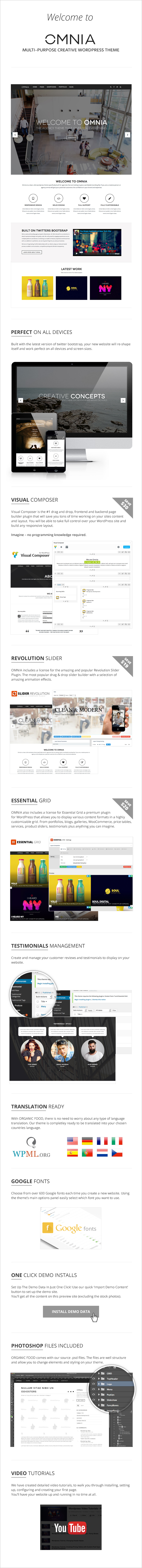 OMNIA - Multipurpose, Creative WordPress Theme