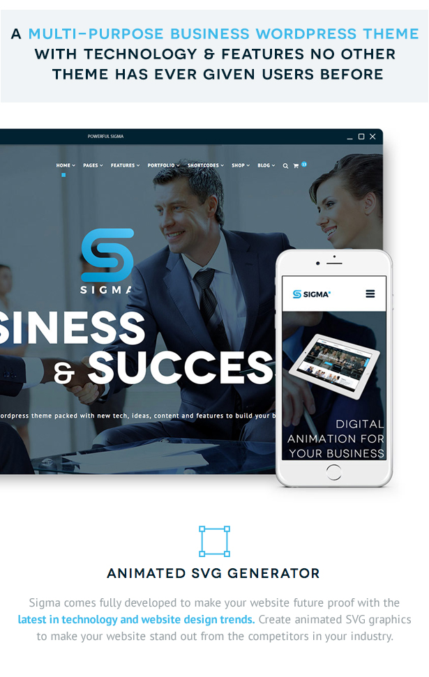 SIGMA   Business Multi-purpose & Latest Technology Responsive WordPress Theme - 7