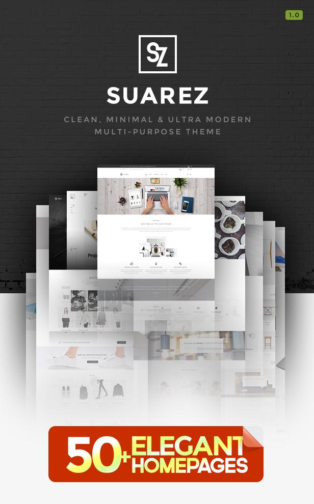 Suarez - Clean, Minimal & Modern Multi-Purpose Theme