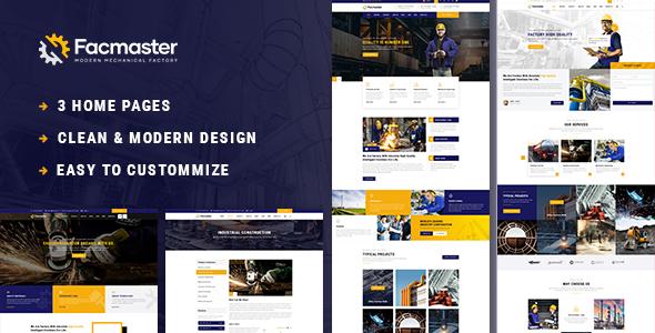 Facmaster - Factory & Industrial WordPress Theme