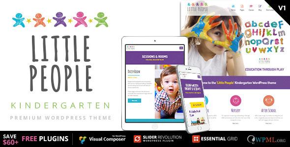 Orang Kecil |  Tema WordPress Taman Kanak-Kanak untuk PreScool dan bayi, pembibitan, dan sekolah bermain
