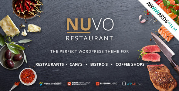 NUVO - Cafe & Restaurant WordPress Theme - Multiple Restaurant ...