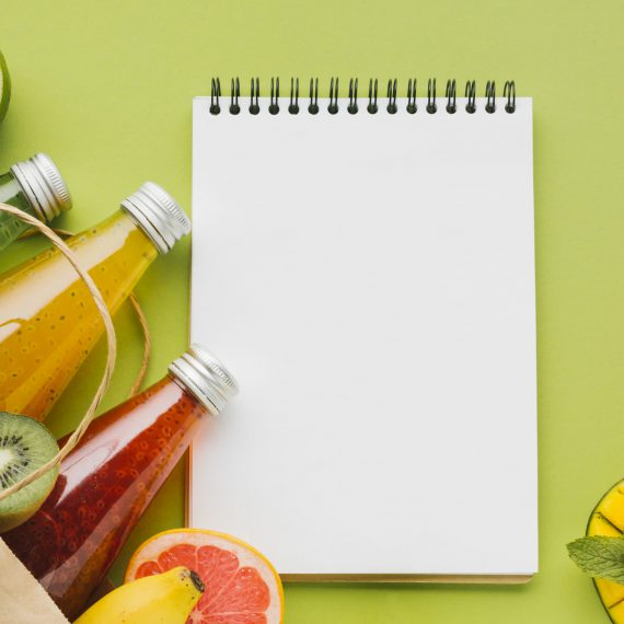 summer-fruit-juices-with-clipboard-copyspace